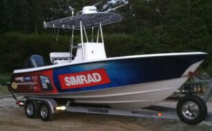 Team Simrad Demo Boat Heading to Virginia Beach Billfish Tournment
